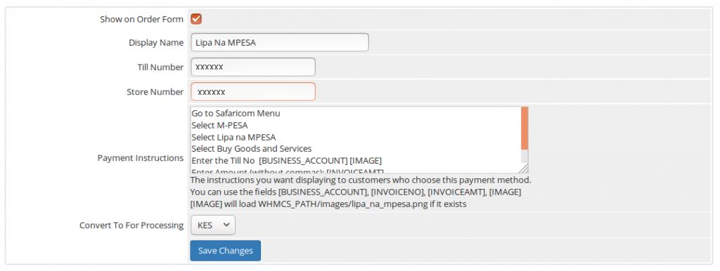 Watu Technology - WHMCS MPESA Integration