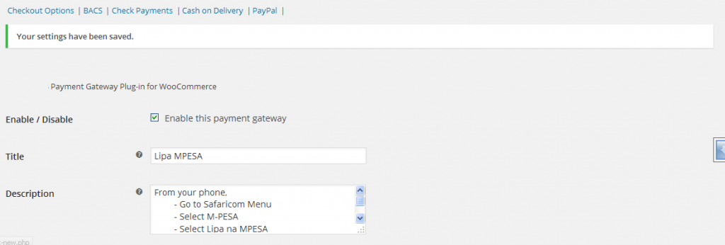 Watu Technology - Woocommerce Mpesa Configure